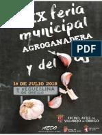 Feria del Ajo de Veguellina de Órbigo 2019