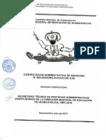 CONTRATACION ADMINISTRATIVA DE SERVICIOS N°005-2019/DRE-HVCA/CCAS-CAS