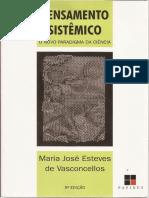 LIVRO Pensamento Sistêmico - O Novo Paradigma Da Ciência - Maria J Esteves de Vasconcellos