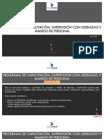 Capacitacion Supervision Liderazgo y Manejo de Personal