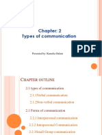 Chapter 2 Types of Communication