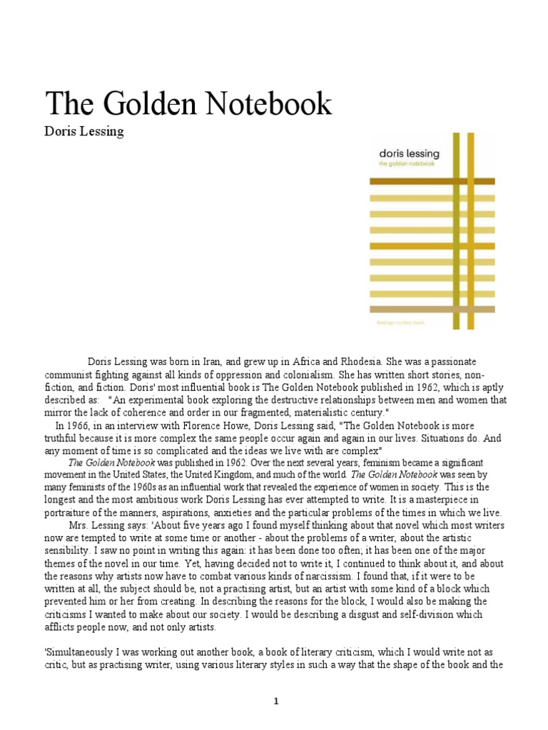 doris lessing the golden notebook 1