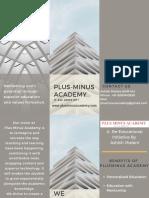 PLUS-MINUS Academy Brochure