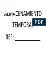 Almacenamiento Temporal