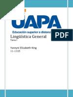 Lingüística General Tarea I