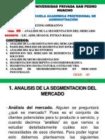Tema Nº 05 - Analisis de La Segmentacion Del Mercado