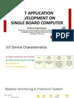 IoT Application Development on Single Board Computer