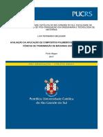 AVALIAÇÃO DA APLICAÇÃO DE COMPÓSITOS POLIMÉRICOS EM ENGRENAGENS CÔNICAS DE TRANSMISSÃO DE MÁQUINAS AGRÍCOLAS