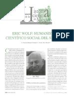 Eric Wolf Humanista y Científico Social Del Siglo Xx