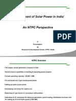 NTPC Solar Plan