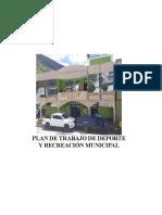 Plan de Trabajo Deportiva municipalidad distrital de Roble