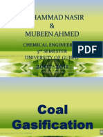 Coal Gasification, University of Gujrat, Chemical Engineering