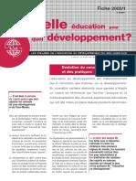 éducation pour quel développement