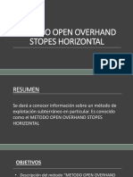 Metodo Open Overhand Stopes Horizontal (Cartagena)