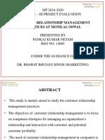 customer relationship management practices at motilal oswal