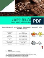 Análisis cacao
