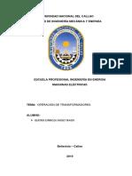 Operación de Transformadores -MAQUI