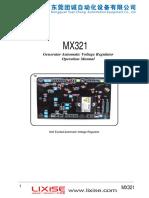 Manual para tarjeta reguladora de Voltaje AVR MX321