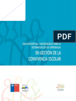 Guia Conceptual y Metodologica Para La Sistematizacion de Experiencias en Gestion de La Convivencia Escolar