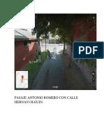 Pasaje Antonio Romero Con Colindantes.