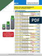 Precio gases fluorados