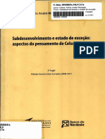 Subdesenvolvimento e Estados de Exceção - Aspectos Do Pensamento de Celso Furtado