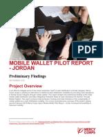Mobile Wallet Pilot Preliminary Report