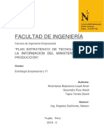 PLAN ESTRATÈGICO DE TECNOLOGÌA DE LA INFORMACIÒN