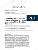 Financialization Against Industrialization_ a Regulationnist Approach of the Brazilian Paradox