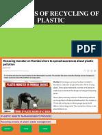 Logisctics of Recycling of Plastic