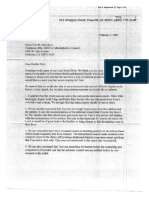 MVBC Letter to Earl Blackburn, Earl Blackburn Letter to MVBC