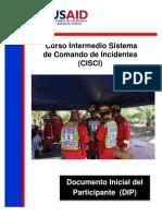 CISCI Documento Inicial Participante - DIP