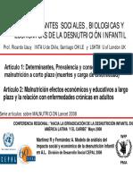 Determinantes Sociales Nutricion Prof Ricardo Uauy Esp