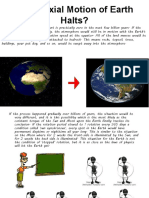 If the Axial Motion of Earth Halts