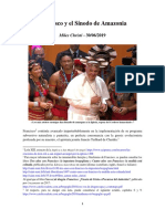 Francisco y El Sinodo de La Amazonia