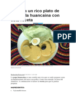 Papa a La Huancaína Con Esta Receta