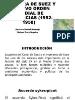 DESCOLONIZACIÓN DEL CANAL DEL SUEZ