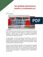 Implementan grilletes electrónicos para procesados y condenados en Lima Sur