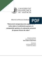 1111CRESPO - Efecto de La Temperatura de Cuajado de La Leche Sobre El Rendimiento Quesero, La Composi...