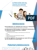 La nutrición en la adolescencia