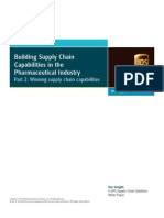 Building Supply Chain Capabilities in Pharma Industry