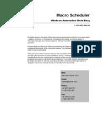 Macro Scheduler Manual