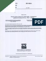 En 1452-1 - uPVC Pressure