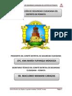 Plan de Accion Del Comité Distrital de Seguridad Ciudadana