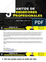 9 Habitos de vendedores profesionales Digo Marketing