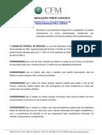 Resolução Crm Ortomolecular