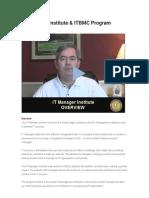 IT Manager Institute & ITBMC Program -(0)
