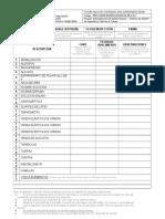 Formato de Inspeccion de Botiquines Areas Administrativas DGSM