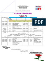 Sample of Multigrade Class Program
