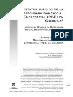 Estatuto Jurídico de la RSE